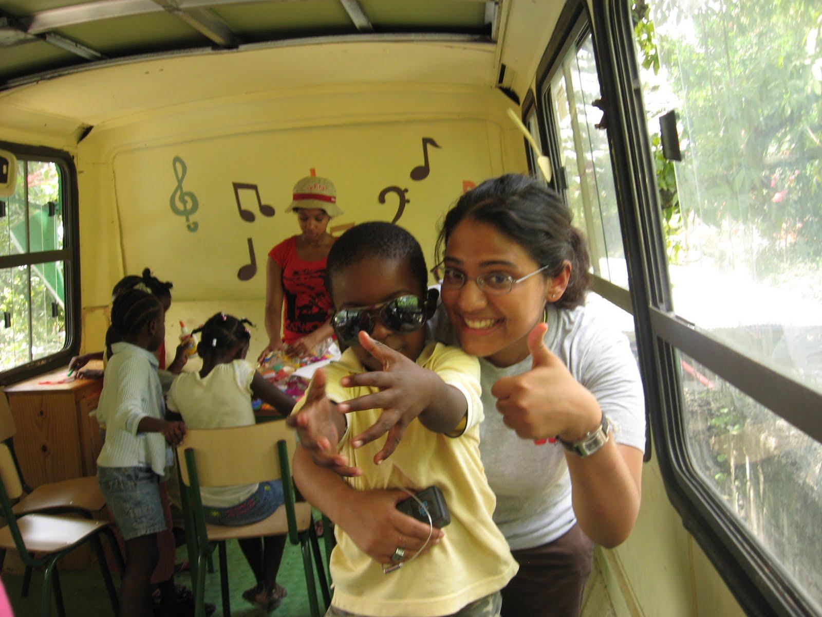 Amritaa and child in school