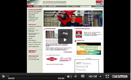 OCW Scholar Screenshot