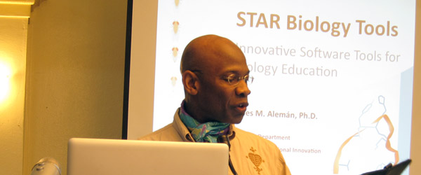 Michel DeGraff, MIT, welcomes workshop participants